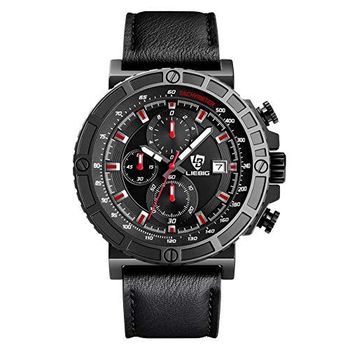 w70anFUyjn Commander Six Display Outdoor Sports Watch Men's Waterproof Watch Quartz Movement Daily Life, Outdoor Sports -