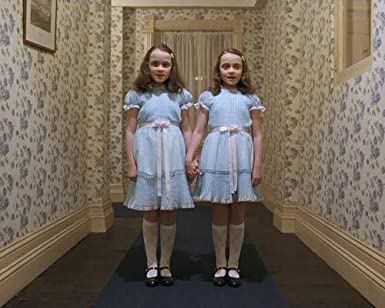 Lisa Burns and Louise Burns in The Shining spooky creepy Twins in ...