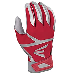 Easton Z7 VRS Hyperskin Batting Gloves, Gray/Red, Medium