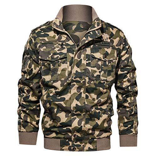Veste Tactique Hommes Coton Camouflage Militaire Bomber Pilot Vestes Manteaux Vestes Cargo Travail 3