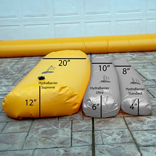 Best Sandbag Alternative - Hydrabarrier Supreme 12 Foot Length 12 Inch Height. - Water Diversion Tubes That are The Lightweight, Re-usable, and Eco-Friendly