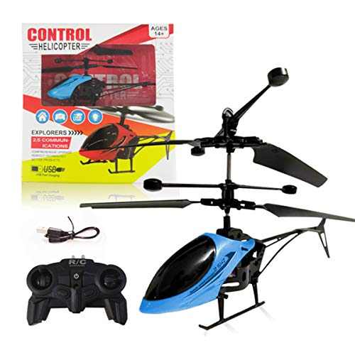 Helicopter with Remote Control,Ancho Mini RC Helicopter for Kids Toy Gift USB Charging (Blue)