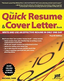 The Quick Resume U0026 Cover Letter Book: Write And Use An Effective Resume In  Only  One Day Resume