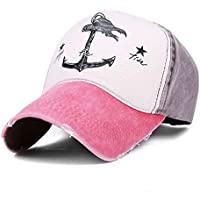 Peak Mall Pirate Ship Anchor Printing Vintage Baseball Cap Adjustable Distressed Trucker Hat For Men and Women