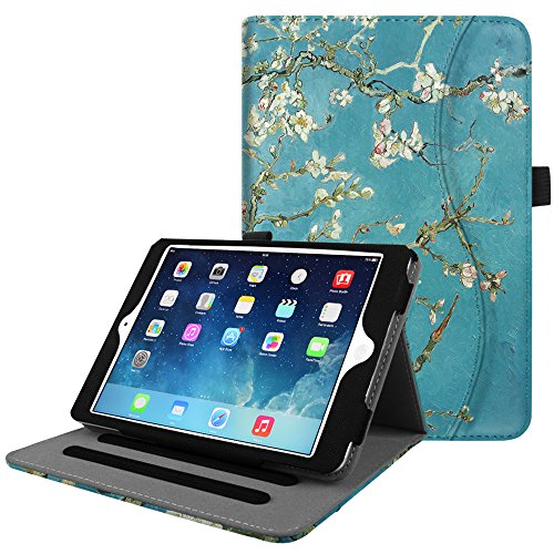 Fintie iPad Mini/Mini 2 / Mini 3 Case [Corner Protection] - [Multi-Angle Viewing] Folio Smart Stand Protective Cover with Pocket, Auto Sleep/Wake for Apple iPad Mini 1 / Mini 2 / Mini 3, Blossom