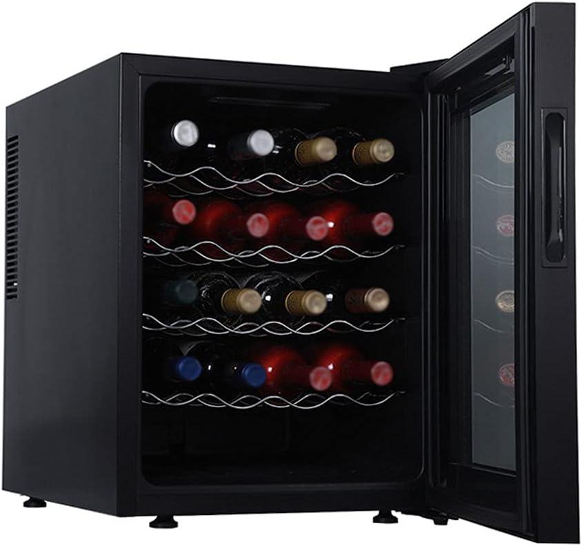 SHENXINCI Nevera para Vinos con Puerta Acristalada Vinoteca Independiente 20 Botellas, 48 litros De Capacidad, Temperatura Regulable 12-18℃, Panel Táctl, Display Digital, Luz LED, 55 W