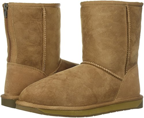 206 Collective Women's Balcom Short Back-Zip Shearling Ankle Boot Chestnut Suede