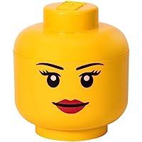 LEGO 40321725 Iconic Storage Head (Large) , Girl, Bright Yellow