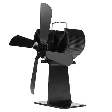 GPFDM Ventilador De Estufa De 4 Cuchillas con Calefacción + 16% Estufa De Ahorro De