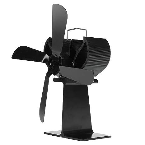 Ventilador De Estufa De 4 Cuchillas con Calefacción + 16% Estufa De Ahorro De Combustible
