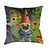 Best Thumbprintz Pillows - Thumbprintz Pug Gnome Throw/Floor Pillow Small 14 x Review