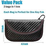 Mini Faraday Bag for Key Fob (2 Pack), TICONN