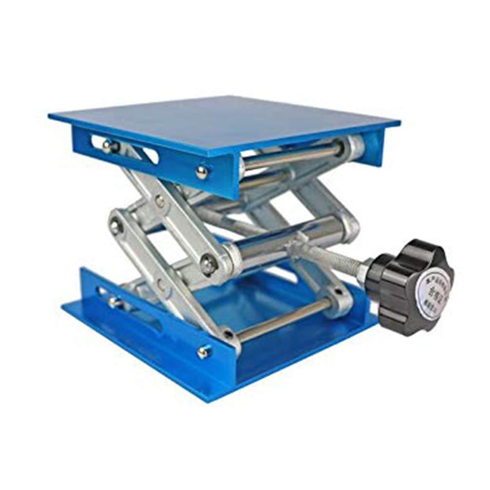 Scientific Lab Jack, 100 * 100mm Aluminium Heavy Duty Lab Lifting Platform Stand, Laboratory Scissor Jack Lift Table