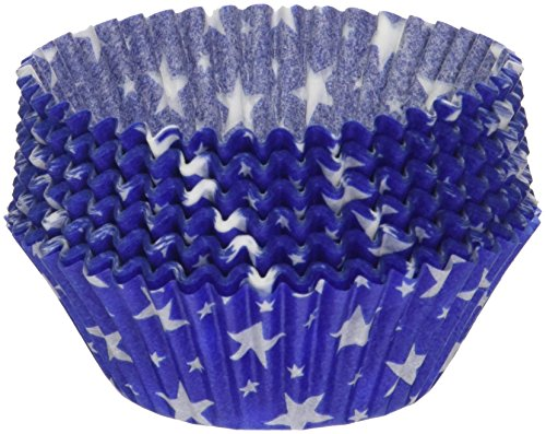Oasis Supply 100 Count Baking Cups, Standard, Blue Star