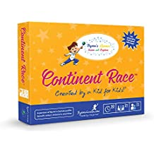 Educational Board Games for Families and Kids - A Fun, Interactive Learning Card Game for The Whole Family - Learn Geography as You Race Around The World - Continent Race from Byrons Games - 7 and Up