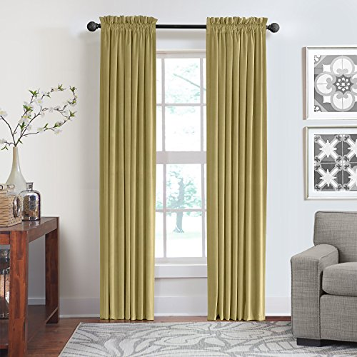 Veratex Contemporary Luxury 100  Cotton Velvet Made In The Usa Any Room Rod Pocket Fastener Window Panel  95 Inch  Apple Cider