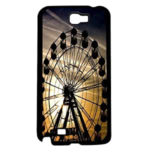 Ferris Wheel In the Sunset Hard Snap On Case (Galaxy Note 2 II) by icecream design