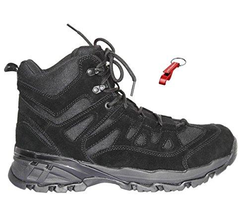 Tactical Commando Stiefel WILDLEDER Halbstiefel 3 Farben 39-48 + AOS-Outdoor® Schlüsselanhänger schwarz