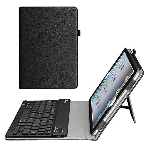 Fintie iPad 2 / iPad 3 / iPad 4 Retina Keyboard Case - Slim Folio Key Removable Bluetooth Keyboard Cover for Apple iPad 4th Generation with Retina Display, iPad 3 & iPad 2, Black (Best Case For Ipad 4 With Retina Display)