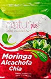 Salud Natural Moringa Alcachofa Chia Natural Plus 32 oz Soluble + Insoluble Fiber Canadian Flax Seed Great Source of Omega 3,6,9 Metabolism Support