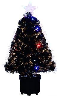 festive productions fibre optic christmas tree 60 cm black
