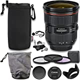 Canon EF 24-70mm f/2.8L II USM Standard Zoom Lens, 82mm Filter Set, Cleaning Kit, Ritz Gear Neoprene Protective Pouch and Accessory Bundle