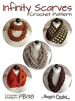 Crochet Pattern Infinity Scarves Set 2 PB138 - Kindle ...