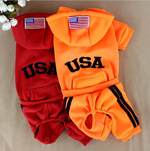 [Hot Sale! Pet Cat Costumes Winter Dog Jumpsuit Clothes for Cats Pet Clothing Pajamas Coat Puppy Clothes Ropa para Gatos Moscotas (XS,] (Business Suit Dog Costume)
