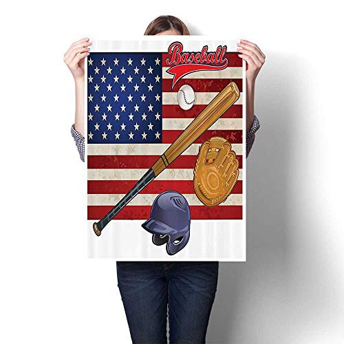 Modern Canvas Painting Wall Art American Flag and Baseball Equipment Champi Tournament Bathroom Accessories Wall Stickers,28