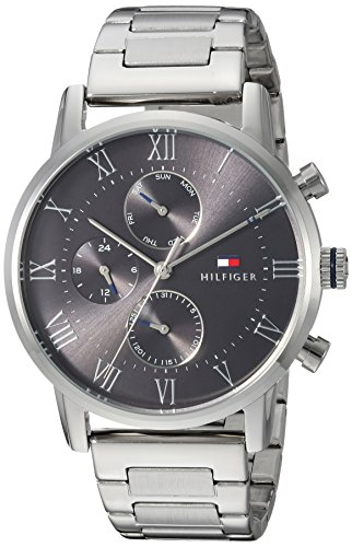 Tommy Hilfiger Men's Sophisticated Sport Quartz Watch with Stainless-Steel Strap, Tone, 22 (Model: 1791397)