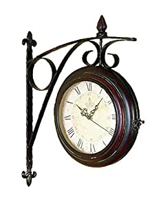 Deco 79 Metal Wall 2-Side Clock, 15 by 20-Inch