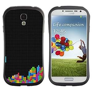 Suave TPU GEL Carcasa Funda Silicona Blando Estuche Caso de protección (para) Samsung Galaxy S4 I9500 / CECELL Phone case / / Tetris Gaming Computer Retro Vintage Art Colors /