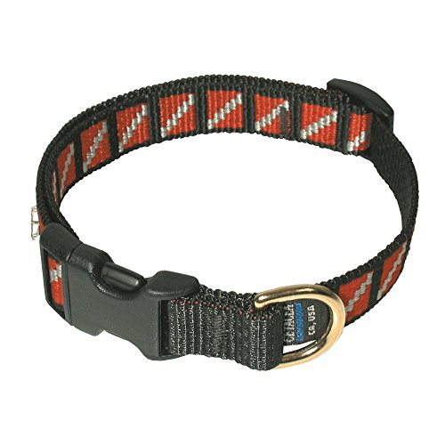 e Nylon Dive Flag Pet Long Collar for Your Scuba Diving Pet - Adjusts to Fit 15 to 25 Neck/FBM ()