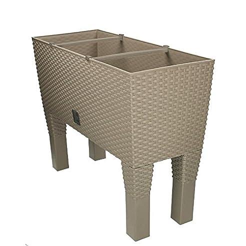 Blumenkasten mit Bewässerungssystem Wasserspeicher hoch 60x25x46cm ...