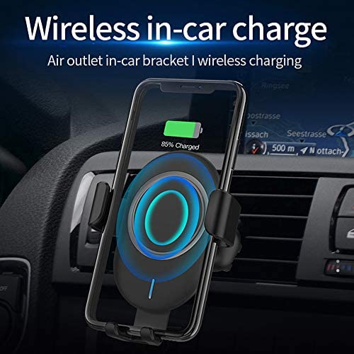 10 W Car Qi Wireless Charger Supporto per telefono ricarica veloce Air Vent Mount Stand per iPhone 8 X XS Max Samsung S9 Xiaomi