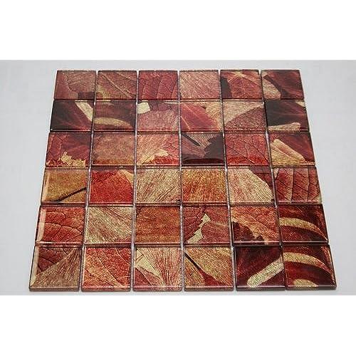 Red Tile Backsplash: Amazon.com