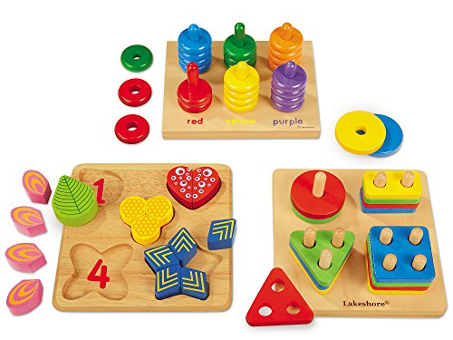 Lakeshore Classic Hardwood Learning Toys - Set of 3