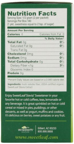 Sweetleaf Natural Stevia Sweetener 70 Count Buy Online