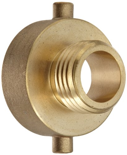 Moon 369-1521021 Brass Fire Hose Adapter, Pin Lug, 1-1/2