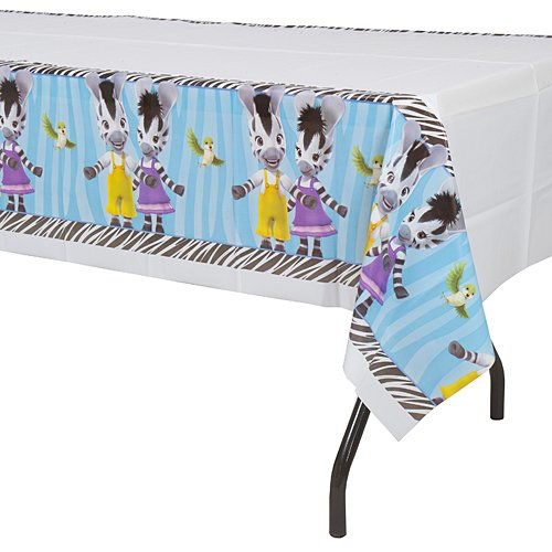 - Border Print Plastic Table Cover, Zou