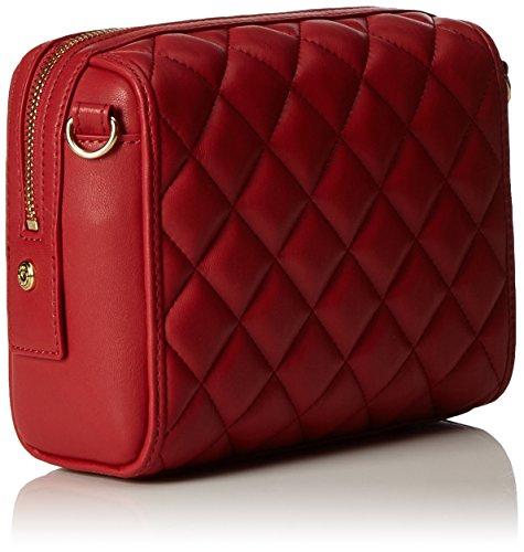 Love Moschino Damen Borsa Nappa Pu Trapuntata Rosso Baguette, Rot (Red), 15x19x9 cm
