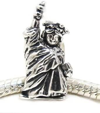 """Amazon.com: EvesErose Silver Tone NY NYC """"Statue Of"""