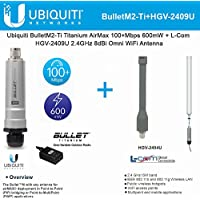 Ubiquiti BulletM2-Ti BM2-Ti Bullet M2HP Titanium + 2.4GHz 8dBi Omni WiFi Antenna