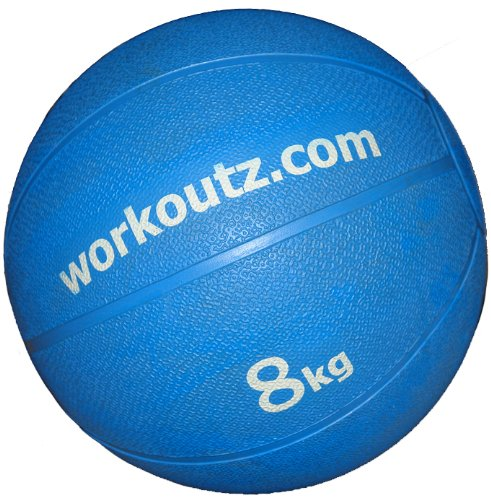 8kg (17.6 lbs) Bounce Med Ball - Blue