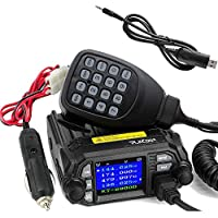 TALKCOOP KT-8900D 25W/20W Dual Band VHF/UHF Mini Color Screen Quad-Standy Mobile Car Radio 2 Way Radios Walkie Talkie Car Mobile Radio+ Free Programming Cable and CD