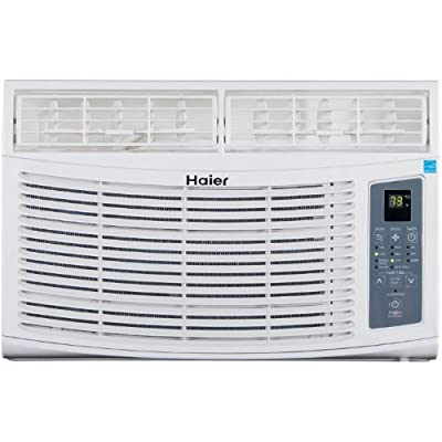 Haier ESA408N 8,000 BTU 115V Window-Mounted Air Conditioner and MagnaClik Remote with Braille