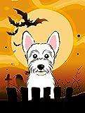 Caroline's Treasures BB1784GF Halloween Westie Garden Size Flag, Small, Multicolor