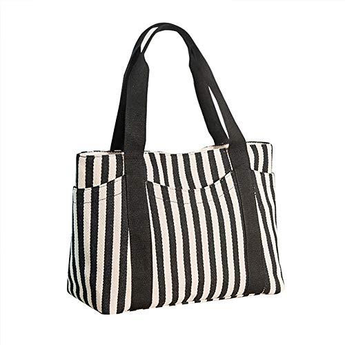 Shopper tout Fourre Femmes Hobo Sac Balbala Mini Vertical À Bandoulière D'été Toile Main Filles H Stripe Coton WOBq8BAwn