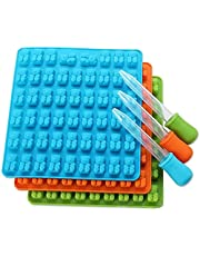 53 Cavity Silicone Gummy Bear Chocolate Mold Candy Maker Ice Tray Jelly Moulds Color: blue