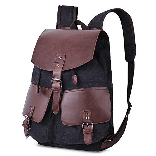 Best Vbiger Canvas Backpack Large Capacity Travel Daypack Casual Shoulder Bag for Men and